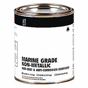 Anti Seize,Non-Metallic,2.5 lb,Can,Brown