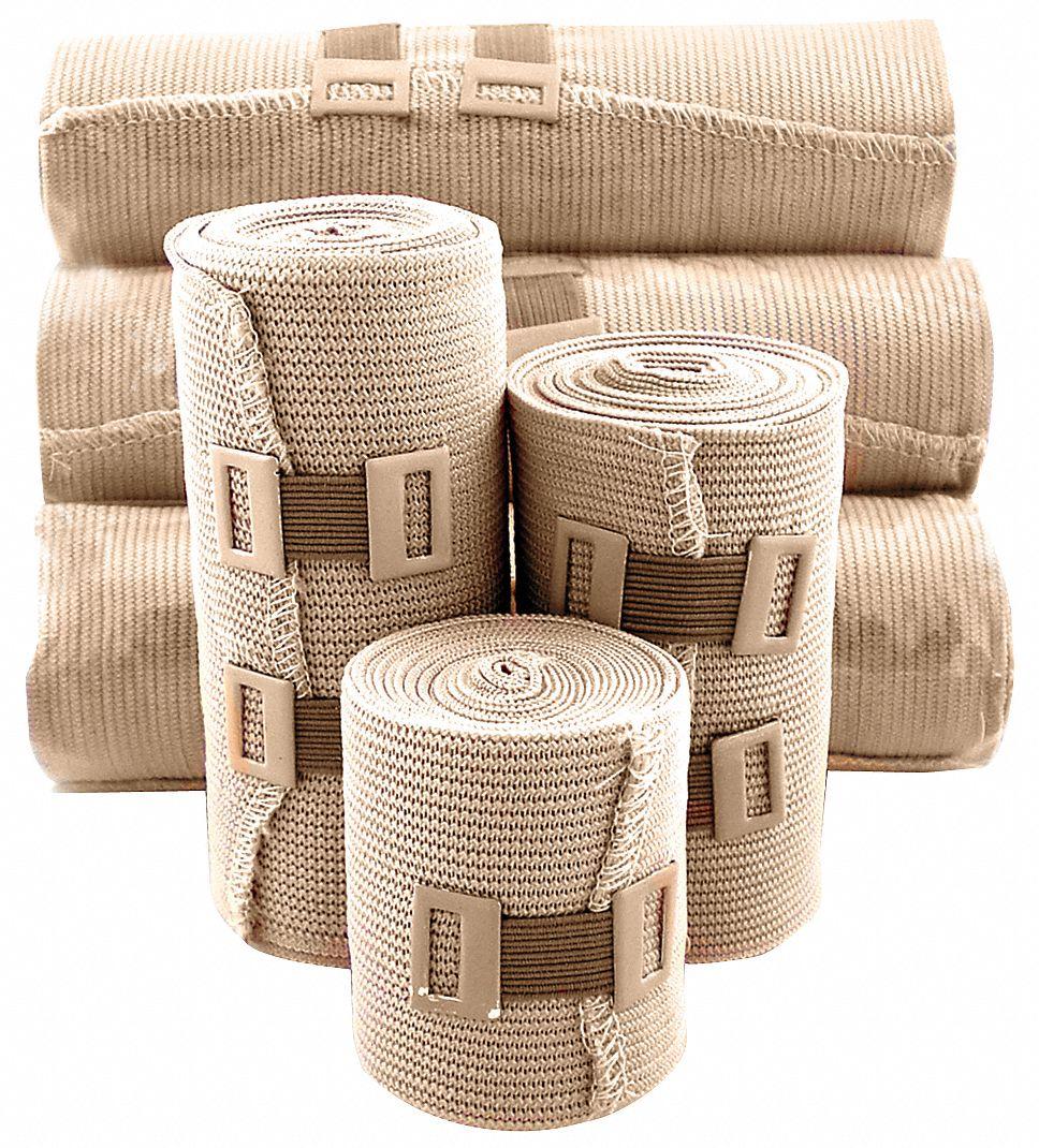 Medsource Elastic Bandages Unitized Sterile Cotton Includes