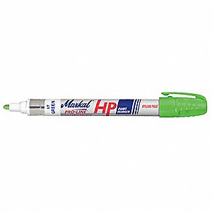 Permanent Paint Marker, Paint-Based, Greens Color Family, Medium Tip, 1 EA