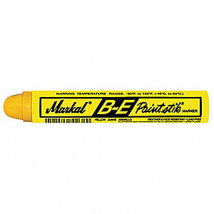 "Paint Marker with 11/16"" Tip Size and 12 to 24 hr. Dry Time, Yellow&#x3b; PK12"