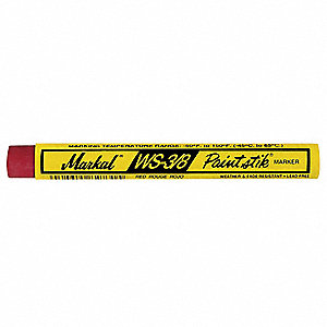 Paint Crayon, Reds Color Family, -50°F to 150°F, 12 PK