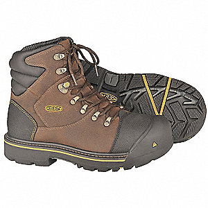 Work Boots,Steel Toe,6In,Blk,15D,PR