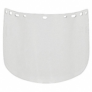 Visor,Clear,8InH x 15InW x 0.08In Thick