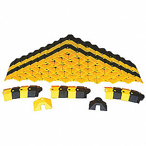 Cable Protector, Black/Yellow, Load Capacity: 2000 lb.
