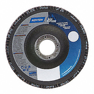 "6"" Flap Disc, Type 29, 7/8"" Mounting Hole, Coarse, 40 Grit Zirconia Alumina, 1 EA"