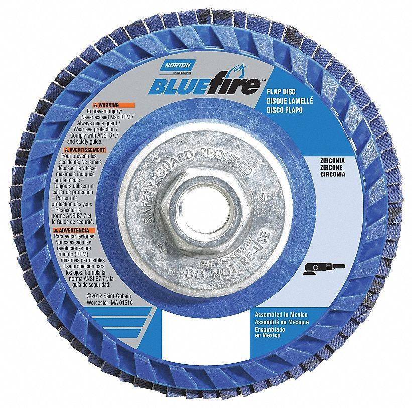 4 1//2,40 Grit,7//8 Arbor Regular 13,300 RPM,T27 8 Pack Z3-100/% Zirconia Flap Discs