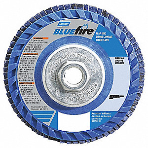 "4-1/2"" Flap Disc, Type 27, 5/8""-11 Mounting Hole, Extra Coarse, 36 Grit Zirconia Alumina, 1 EA"