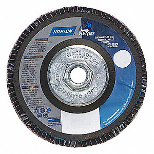"7"" Flap Disc, Type 29, 5/8""-11 Mounting Hole, Extra Coarse, 36 Grit Zirconia Alumina, 1 EA"