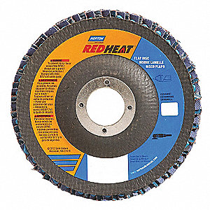 "5"" Flap Disc, Type 29, 7/8"" Mounting Hole, Fine, 120 Grit Ceramic, 1 EA"