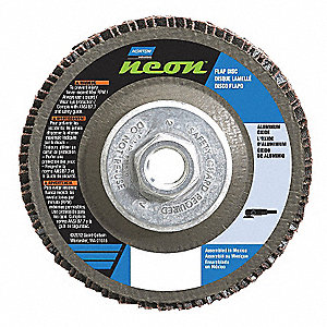 "6"" Flap Disc, Type 27, 5/8""-11 Mounting Hole, Coarse, 40 Grit Aluminum Oxide, 1 EA"