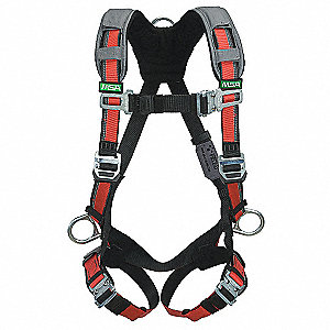EVOTECH ® Full Body Harness with 400 lb. Weight Capacity, Red, XL