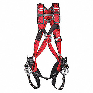 Full Body Harness,Universal,400 lb.,Red
