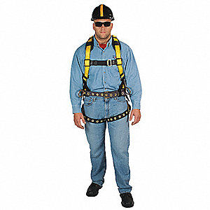 Full Body Harness, Harness Size: XL, Weight Capacity: 400 lb., Yellow