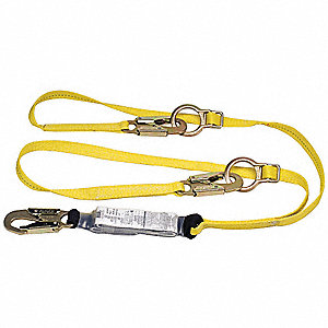 Lanyard,2 Leg,Nylon ,Yellow