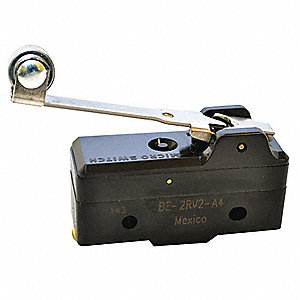 25A @ 480V Lever, Long, Roller Industrial Snap Action Switch; Series BE