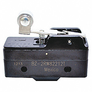 15A @ 240V Lever, Long, Roller Industrial Snap Action Switch&#x3b; Series BZ