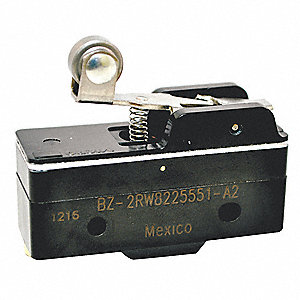 Industrial Snap Switch, SPDT Contact Form, 250VAC Voltage Rating, 15A Current Rating