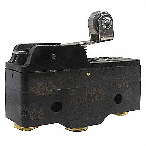 1A @ 240V Lever, Roller Industrial Snap Action Switch&#x3b; Series BZ