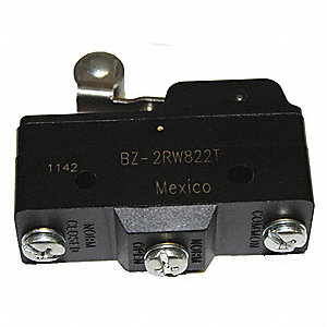 15A @ 240V Lever, Roller, Short Industrial Snap Action Switch; Series BZ