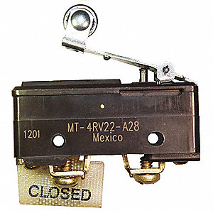 10A @ 120V Lever, Roller, Short Industrial Snap Action Switch; Series MT