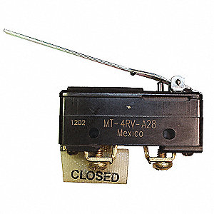 10A @ 120V Hinge, Lever Industrial Snap Action Switch&#x3b; Series MT