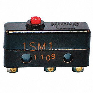 5A @ 240V Pin, Plunger Miniature Snap Action Switch&#x3b; Series SM