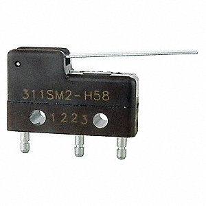 5A @ 240V Lever Miniature Snap Action Switch; Series SM