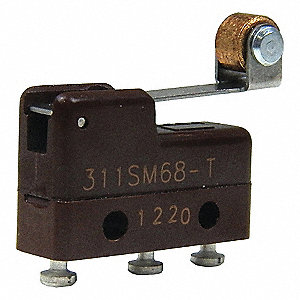 Miniature Snap Action Switch, SPDT Contact Form, 125VAC Voltage Rating, 1A Current Rating