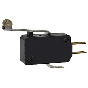 15A @ 240V Lever, Long, Roller Miniature Snap Action Switch&#x3b; Series V7