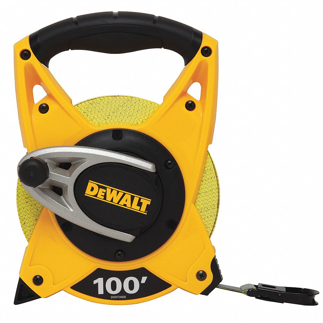 DEWALT Tape Measure34 Inx100 ftYellowBlack 24A336DWHT34028
