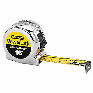 16 ft. Steel SAE Tape Measure, Black/Yellow