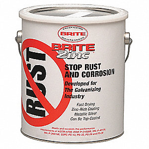 1 gal. All Weather Galvanizing Compound Covers 570 Square Feet, Silver