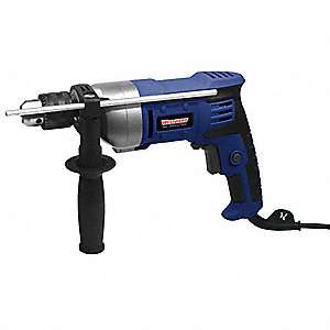 "1/2"" Electric Drill, 5.5 Amps, Pistol Grip Handle Style, 0 to 950 No Load RPM, 120VAC"