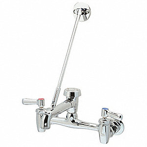 Rigid Utility Sink Faucet, Lever Handle Type, Chrome Plated Finish