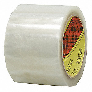 Polypropylene Carton Sealing Tape, Hot Melt Resin Adhesive, 72mm X 100m, 1 EA