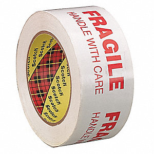 Polypropylene Carton Sealing Tape, Rubber Adhesive, 48mm X 100m, 1 EA