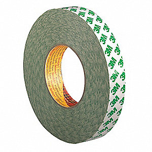 "1"" x 55 yd. PVC Double Sided Tape, 10.2 mil, White, 1EA"