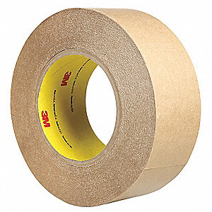 "Polypropylene Double Sided Film Tape, Acrylic Adhesive, 4.00 mil Thick, 2"" X 60 yd., Clear"