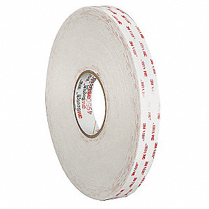 Double Sided Tape,Firm Foam,1in,Wht,72yd