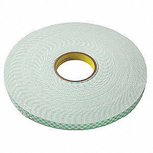 "3/4"" x 36 yd. Urethane Foam Double Sided Tape, 62 mil, Natural, 1EA"