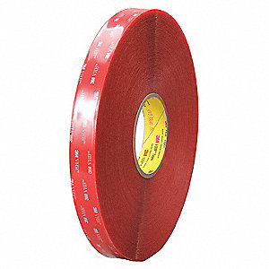 "Acrylic Double Sided VHB Tape, Acrylic Adhesive, 20.00 mil Thick, 1/2"" X 72 yd., Clear"