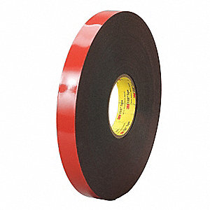 Double Sided VHB Tape,1/2 in,Black,36 yd