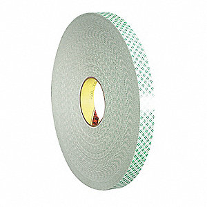 "1"" x 72 yd. Urethane Foam Double Sided Tape, 31 mil, Off White, 1EA"