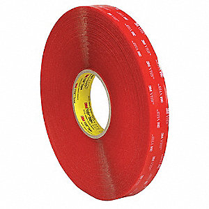 Double Sided VHB Tape,1 in.,Clear,36 yd.