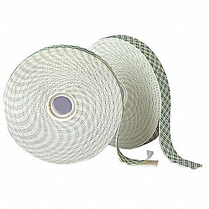 Double Sided Tape,1 in,Natural,36 yd
