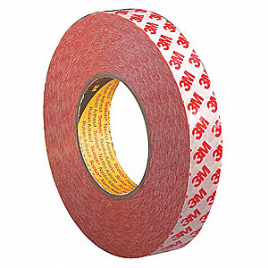 Double Sided Tape,Polyester,1in,Clr,55yd