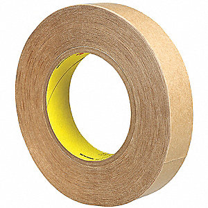 "1"" x 60 yd. Polypropylene Double Sided Tape, 8 mil, Clear, 1EA"
