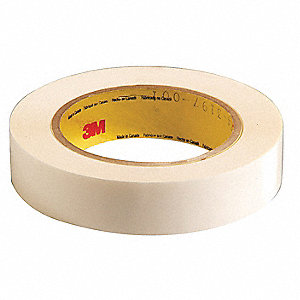 "1"" x 36 yd. Polyester Double Coated Tape, 6.9 mil, Clear, 1EA"