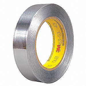 "Aluminum Shielding Foil Tape, Acrylic, 4.60 mil Thick, 1"" X 60 yd., Silver, 1 EA"