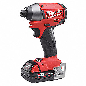 "1/4"" Hex Cordless Impact Driver Kit, 18.0 Voltage, 1600 in.-lb. Max. Torque, Battery Included"
